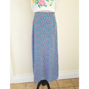 🌹VTG Liz Claiborne Floral A-Line Maxi Skirt Small